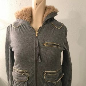 Marc By Marc Jacobs Hoodie XS Grey & Gold jacket